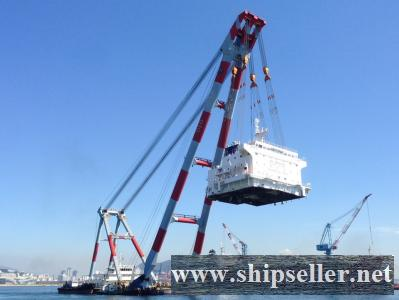 sell floating crane 1200t crane barge 1200 ton in south korea floating crane barge 1200t 1000t 1500t