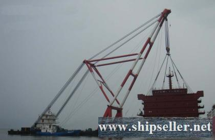 1000t crane barge 1000 ton floating crane barge 1000t crane vessel 2 million only