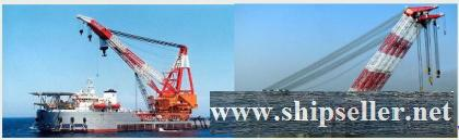 sell floating crane 50t crane barge 50 ton