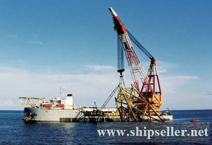 floating crane 1500t indonesia crane barge 1500ton charter crane ship crane vessel buy sell sale pur