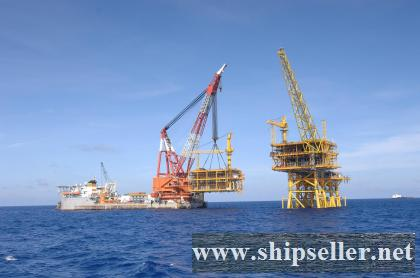 indonesia floating crane 1500t crane barge 1500ton charter buy sell sale purchase