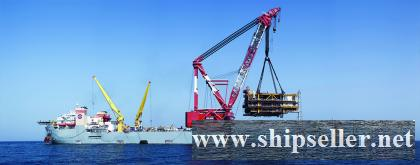 3850T CRANE BARGE 3850 TON FLOATING CRANE BARGE SALE RENT CHARTER SELL