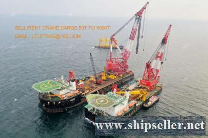 4000t crane barge 4000 ton floating crane barge sale rent charter sell