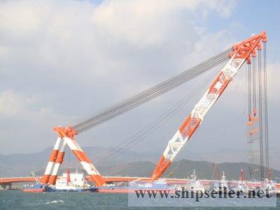 3600TON FLOATING CRANE FOR SALE BLT 2008 KOREA
