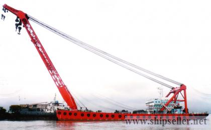 cheapest 1200t floating crane new-built crane barge 1200 ton