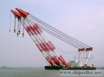 floating crane barge 100t to 5000t sell&charter 100t to 5000t (sheer-leg and full revolving) floatin