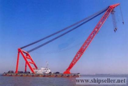 cheapest 1800t floating crane new built floating crane barge1800 ton