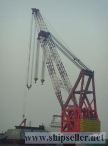 cheapest new 1500t floating crane 1500 ton crane barge