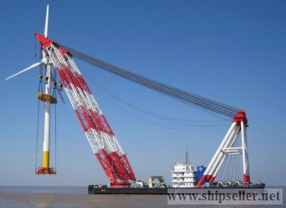 floating 1000t 1200t 1300t crane barge 1400t