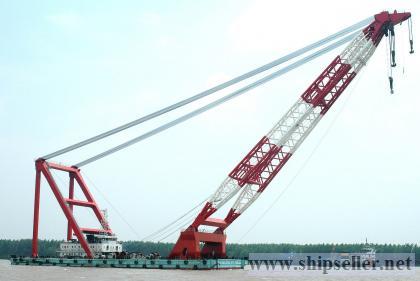 floating crane 1500t 1600t 1700t crane barge