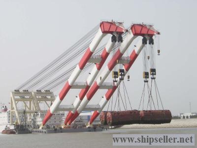 floating crane 1800t 2000t 3000t crane barge