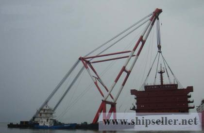 1000t floating crane barge for sale $10 million only 1000 ton