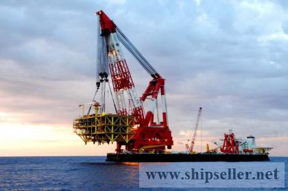 rent charter floating crane 4000t 4500t 4600t crane barge