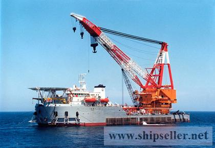 sell charter floating crane vessel 100t to 5000t crane barge