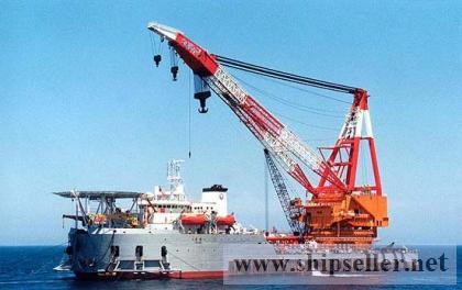 offshore crane barge floating crane 100t 150t 200t 300t