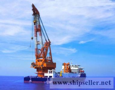 revolving floating crane barge 50t to 5000t