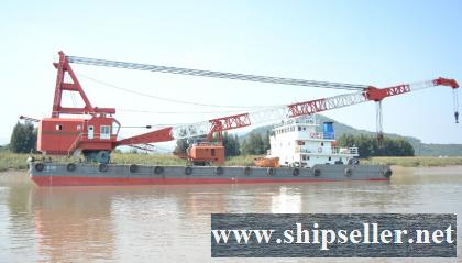 200t floating crane revolving crane barge price 1.2million
