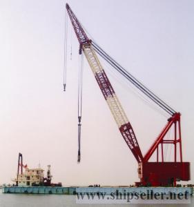 cheap 1000t Floating crane japan engine full revolving