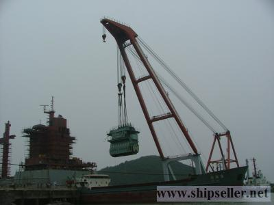 cheap 1000t floating crane barge 1000 ton