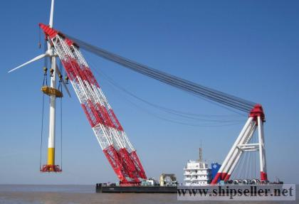 cheap sell&charter floating cranes 100t to 5000t (sheer-leg and full revolving)  crane barge