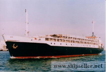 LIVESTOCK CARRIER FOR SALE BLT 1970 DWT 1521