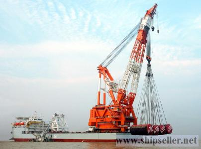 1500t floating crane charter crane barge 1500 ton rent