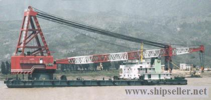 300t floating crane charter crane barge 300 ton rent