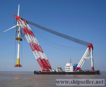 cheap floating crane 100t to 5000t crane barge