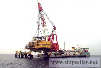 1000t floating crane barge for sale $8.5 million 1000 ton floating crane