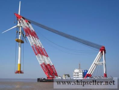 cheap floating crane barge sale rent charter