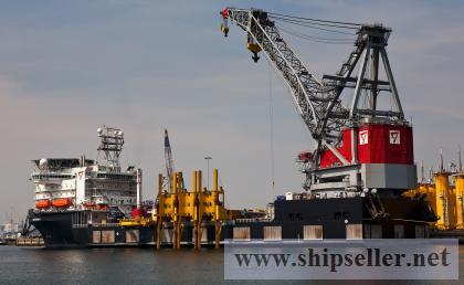 floating crane supplier seller manufacturer crane barge vessel