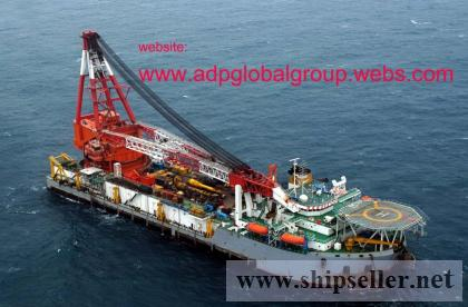 sell charter accommodation floating crane barge
