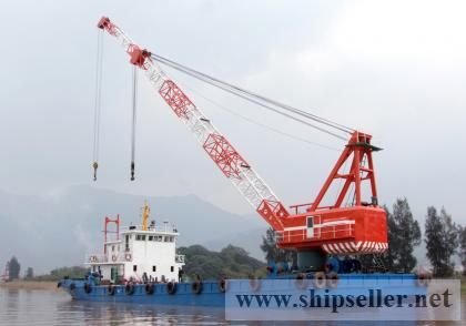 100t floating crane barge 100t used crane barge 100 ton