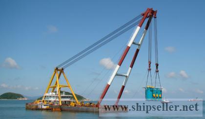 500t floating crane barge 500t crane barge 500 ton crane vessel
