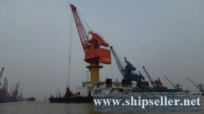 sell grab floating crane floating grab crane barge for coal,sand,bulk floating crane barge