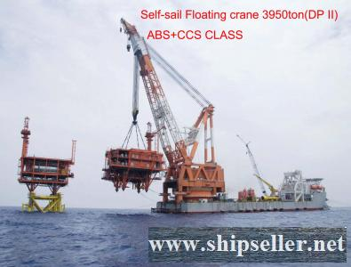 3800t floating crane barge charter rent sell sale buy rent 3000t 3500t 3800t 4000t 4500t 5000t