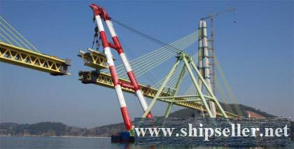 1,200-tonne Floating Shear Leg Crane 1200T floating crane barge 1200 ton