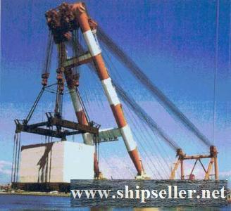 3,000-tonne Floating Shear Leg Crane 3000T floating crane barge 3000 ton