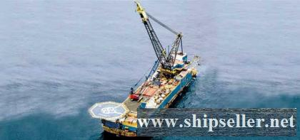 1,200 tonne Revolving Crane and Pipe Lay Barge 1200T FLOATING CRANE BARGE 1200 TON REVOLVING FLOATING CRANE