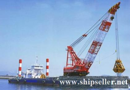 sell japan skk grab dredger 13cbm clamshell dredger 13m3 12cbm 12m3 cheap