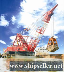 sell japan skk grab dredger 10cbm 15cbm clamshell dredger 10m3 15m3 cheap