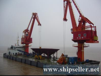 Iron Ore Transshipment Vessel for sale sand coal floating crane barge grab floating crane vessel