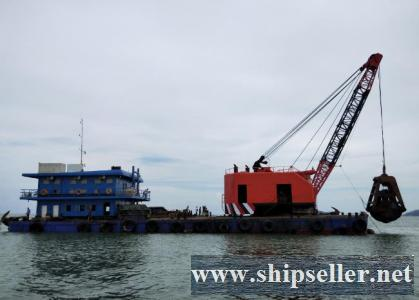 indonesia clamshell dredger grab dredger 3cbm to 50cbm china japan Thailand vietnam Philippines malaysia singapore Brunei