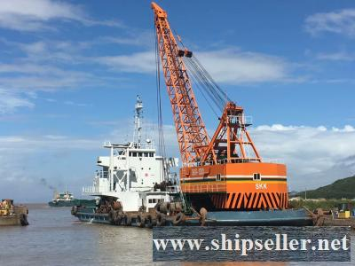 clamshell dredger 13m3 13cbm grab dredger for sale (5m3 to 50m3) japan skk spud dredger