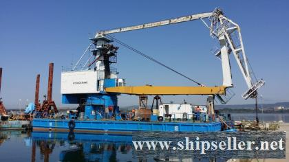 FLOATING CRANE OF 10t NON SELF-PROPELLED