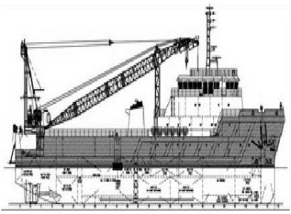 75 m 3600HP Maintenance Work Boat (Work-In-Progress)