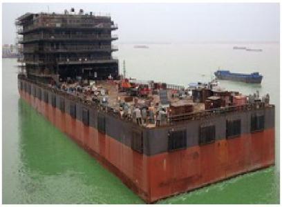 2 units of 120 m 300 men Accommodation Barges