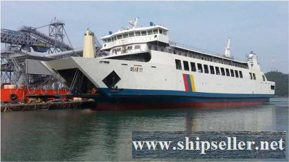 566PAX/ 42 TRUCKS RORO FERRY FOR SALE