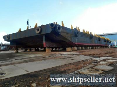 250FT X 80FT X 16FT FLAT TOP DECK BARGE FOR SALE