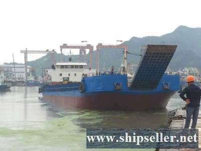 1000 DWT LCT Type Self Propelled Deck Barge for sale